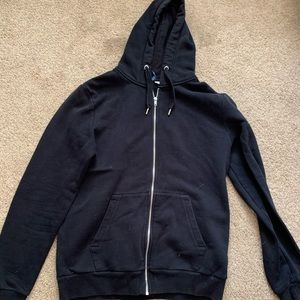 Black casual zip up